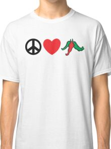 "Cinco de Mayo ""Peace Love Hot Chile Peppers"" Classic T-Shirt"
