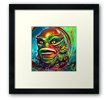Creature from the black lagoon. Framed Print