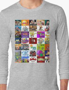 90's Kid Cartoon Mashup Long Sleeve T-Shirt