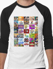 90's Kid Cartoon Mashup Men's Baseball ¾ T-Shirt