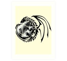 Dungeons and Dragons - Black and Silver! Art Print