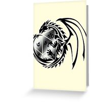 Dungeons and Dragons - Black and Silver! Greeting Card