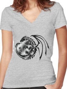 Dungeons and Dragons - Black and Silver! Women's Fitted V-Neck T-Shirt
