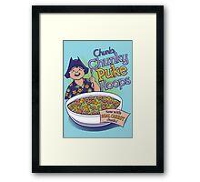 Chunk's Chunky Puke Hoops Framed Print