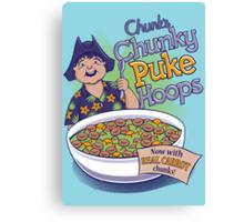 Chunk's Chunky Puke Hoops Canvas Print