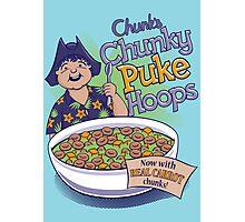 Chunk's Chunky Puke Hoops Photographic Print