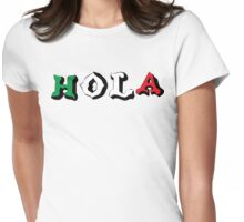 "Cinco de Mayo ""Hola"" Womens Fitted T-Shirt"