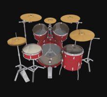 Red Drum Kit by bradyarnold