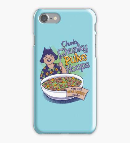 Chunk's Chunky Puke Hoops iPhone Case/Skin