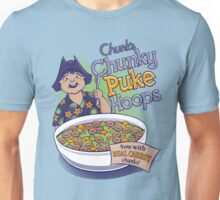 Chunk's Chunky Puke Hoops Unisex T-Shirt