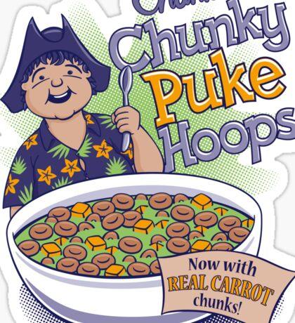 Chunk's Chunky Puke Hoops Sticker