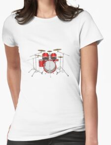 Red Drum Kit Womens Fitted T-Shirt