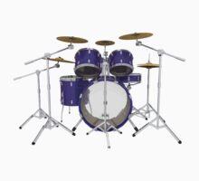 Purple Drum Kit by bradyarnold
