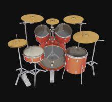 Orange Drum Kit by bradyarnold