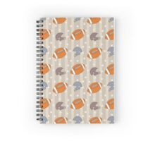 American Football pattern Spiral Notebook