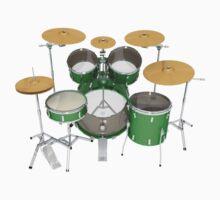 Green Drum Kit by bradyarnold