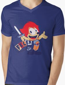 Felix the Thundercat Mens V-Neck T-Shirt