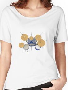 Drum Kit: Top View Women's Relaxed Fit T-Shirt