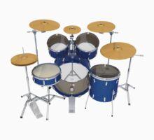 Blue Drum Kit by bradyarnold
