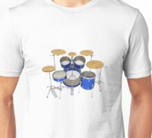 Blue Drum Kit Unisex T-Shirt