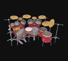 Large Red Drum Kit by bradyarnold