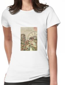 Old french poster Womens Fitted T-Shirt