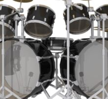 Large Black Drum Kit Sticker