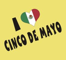 I Love Cinco de Mayo One Piece - Short Sleeve