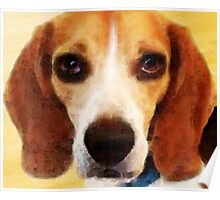 Beagle Dog Art - Sad Eyes Poster