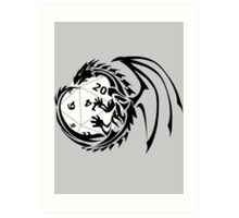 Dungeons and Dragons - Black and White! Art Print