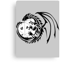 Dungeons and Dragons - Black and White! Canvas Print