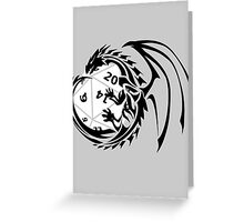 Dungeons and Dragons - Black and White! Greeting Card