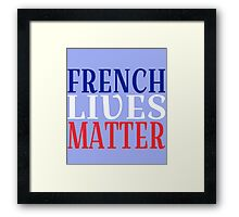 French Lives Matter Framed Print