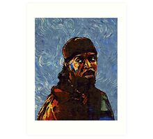Omar Little by VanGogh - www.art-customized.com Art Print
