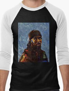 Omar Little by VanGogh - www.art-customized.com Men's Baseball ¾ T-Shirt