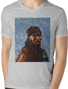 Omar Little by VanGogh - www.art-customized.com Mens V-Neck T-Shirt