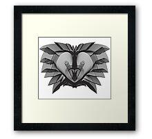 The Lion (Black) Framed Print
