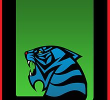 Tiger Emblem Green/Blue - (iPad) by Adam Angold