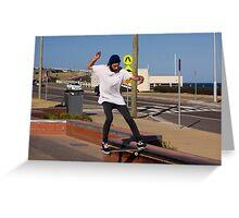 Nose Slide - Empire Park Skate Park Greeting Card