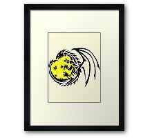 Dungeons and Dragons - Black and Yellow! Framed Print