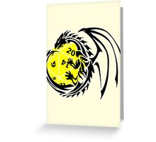 Dungeons and Dragons - Black and Yellow! Greeting Card