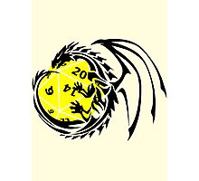 Dungeons and Dragons - Black and Yellow! Photographic Print