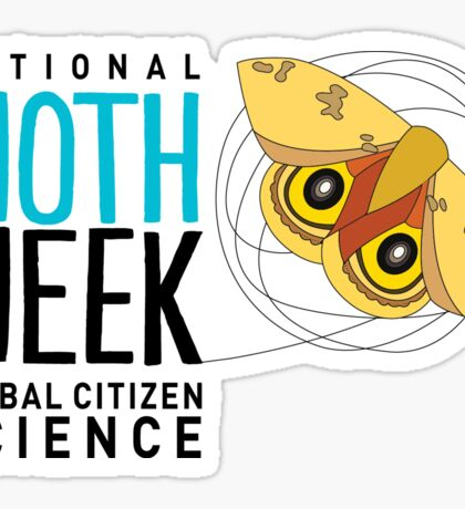 National Moth Week - logo horizontal Sticker