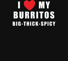 I Love My Burritos Women's Womens Fitted T-Shirt