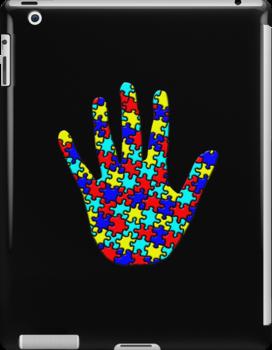 Autism Puzzle Hand by screamingtiki