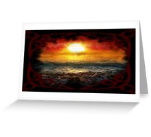 Beauty in Destruction. Nuclear Sunset. Greeting Card