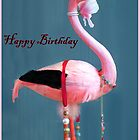 Stork Birthday card by Forfarlass