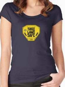 This Unit is THREE LAWS SAFE (Three Laws of Robotics) Women's Fitted Scoop T-Shirt