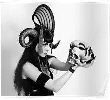 Skull horns Poster