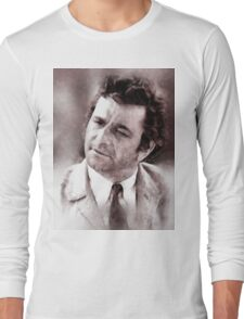 Peter Falk Columbo by John Springfield Long Sleeve T-Shirt